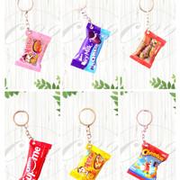 Gantungan Kunci Miniatur Snack Unik-Bisa Pilih Varian