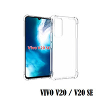 Vivo V20 / V20 SE Anti Crack Shockproof TPU Soft Case Transparan