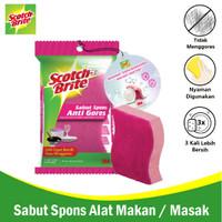 3M Scotch Brite Sabut/Spons 1 Pcs 3x4 Inch Sponge Dishwasher 3M-ID-37