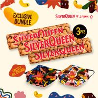 SilverQueen Cashew x Liunic (isi 3 + FREE masker Liunic)