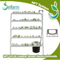 [Luar Kota] Paket Hidroponik NFT STAND Minimalis 1 Meter 50 Lubang