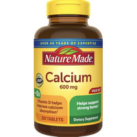 Nature made Calcium 600 mg Vitamin D3 220 tablets
