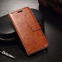 Samsung A21 flip wallet leather