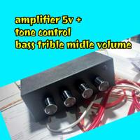 Ampli mini 5v + Tone control volume bass trible midle/ amplifier mini