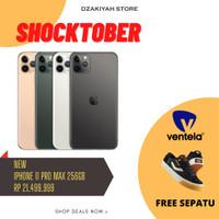Iphone 11 pro max 256gb garansi tam NEW promo free sepatu ventela