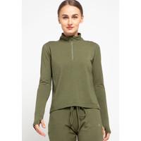 Baju Olahraga Panjang, Fitflo Activewear, Tencel, Amara Top Olive