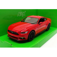Welly 2015 Ford Mustang GT 1:24 - Merah [MBW 500-MRH]