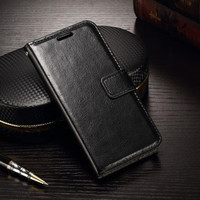 Samsung A21s flip wallet leather