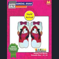 SANCU - Sandal Lucu Anak Happy Cat Merah - 21