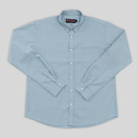 COTTON.GO Kemeja Oxford Button Down Lengan Panjang - Blue - L