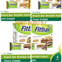 FITBAR MULTIGRAIN 5 X 22 G TIRAMISU FRUITS NUTS CHOCO DELIGHT/ FIT BAR