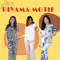 Piyama Baju Tidur Cotton Motif Lucu (Motif Rabbit)