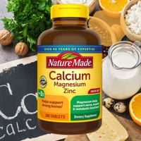Nature Made, Calcium Magnesium Zinc with D3, 300 Tablets Original USA