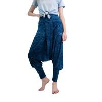 Celana Harem, Fitflo Activewear, Katun Organik, Gaia Indigo