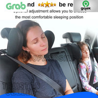 Headrest Neck Bantal Penyangga Kepala Leher Jok Mobil Travel Pillow -