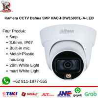 Kamera CCTV Dahua 5MP HAC-HDW1509TL-A-LED with Audio Mic - Indoor