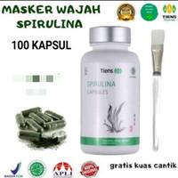 Tiens Spirulina Masker Wajah Jerawat isi 100 Capsules