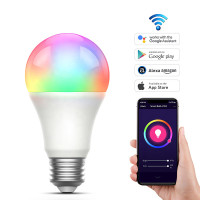 Smart LED Light Bulb RGB 9W E27 Wifi Wireless Home Automation Asisten - 9W