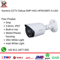 Kamera CCTV Dahua 5MP HAC-HFW1509T-A-LED with Audio Mic - Outdoor
