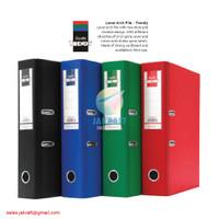 Ordner BANTEX Trendy 1446 Folio F4 FC 7 Cm Hitam Biru Merah Hijau