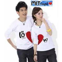 Kaos Couple Let Love Putih Lp