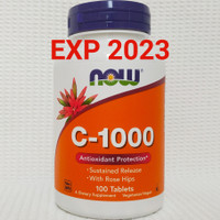 Now Foods Food Vitamin C 1000 mg contents 100 tabs Rose Hips Vit C1000
