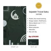 [FREE TASBIH] Sajadah Travel Saku Lipat PREMIUM WATERPROOF Murah - 063
