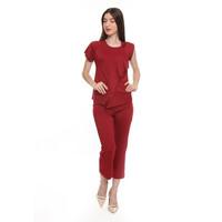 Buy 1 Get 1 - Basix Gemma Red Blouse, Free Pants