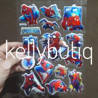 3D Hologram Stickers Fancy Koleksi Stiker Mainan Karakter Spiderman