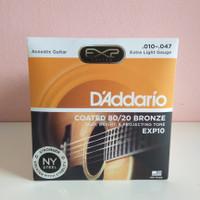 ORIGINAL Senar Gitar Akustik D'addario Coated 80/20 Bronze EXP10 10-47
