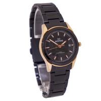Miragewatch Jam Tangan Wanita mirage original hitam rosegold 7570l