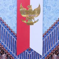 map kertas / stopmap / Stop Map folio motif batik Garuda Indonesia