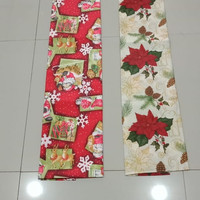 Taplak meja 150x240 cm tema natal / Christmas table cloth