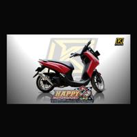 Set Knalpot K'Race Performence Yamaha Lexi 125 Fullsystem