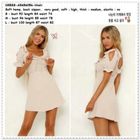 AB656056 Mini Dress Polkadot Wanita Korea Import