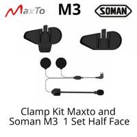Maxto M3 Intercom Helm Soman M3 Clamp Kit Set Helm Half Face Part