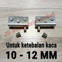 ENGSEL JEPIT KACA 10 - 12 mm STAINLESS STEEL / PIVOT KACA 10-12 mm