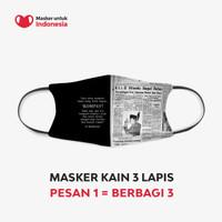 Masker Kain 3 Lapis (3 Ply) Earloop - Desain oleh KOMPAS