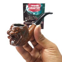 Cangklong Pipa Rokok Tembakau 3736 Pipe Ukir Singa