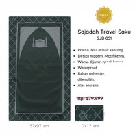 [FREE TASBIH] Sajadah Travel Saku Lipat Waterproof Motif KA'BAH - 051