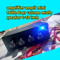 Ampli mini 12v + Tone control volume bass trible midle/ amplifier mini