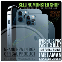 iphone 12 Pro 128GB Pasific Blue NEW BNIB Garansi Apple Store -