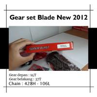 GEAR SET BLADE NEW (2012) 14T/37T 428H-160L