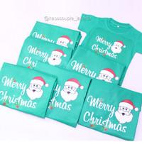 GRATIS NAMA Kaos/Baju Natal couple set SANTA CLAUS Merry Christmas new