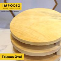Talenan Kayu Pinus 30x15 BULAT / Wooden Cutting Board -