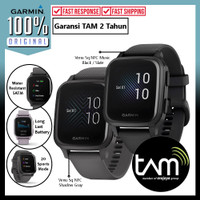 Smartwatch Garmin Venu Sq Square NFC Music Jam Tangan Sport GPS