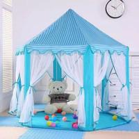 Tenda Anak ISTANA Castle Jumbo Outdoor PRINCES KASTIL BIRU RS06 6SUDUT