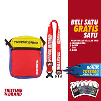 THISTIMEBRAND SHOULDERBAG BLUE RED YELLOW