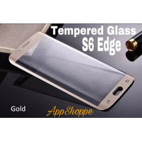 Tempered Glass Samsung Galaxy S6 Edge Full Cover Screen Protector GOLD