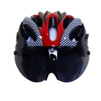 Helm Sepeda EPS Foam Bicycle Helmet + Visor Magnetic Goggles - Merah